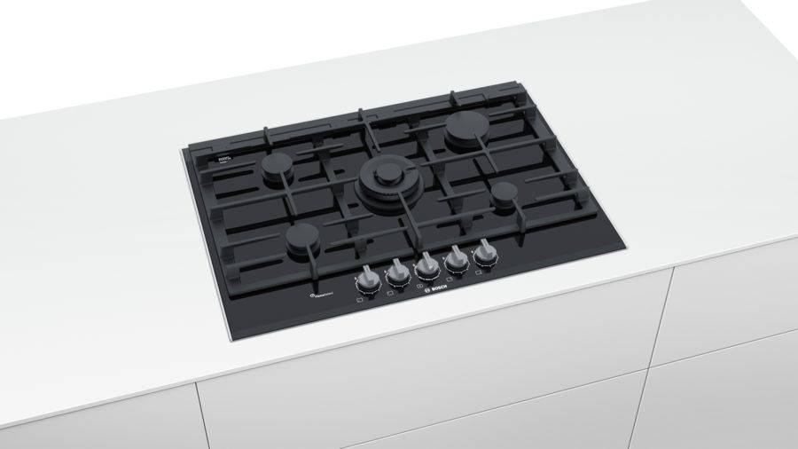 Газовая варочная поверхность Bosch PRR7A6D70R черный - фото 2