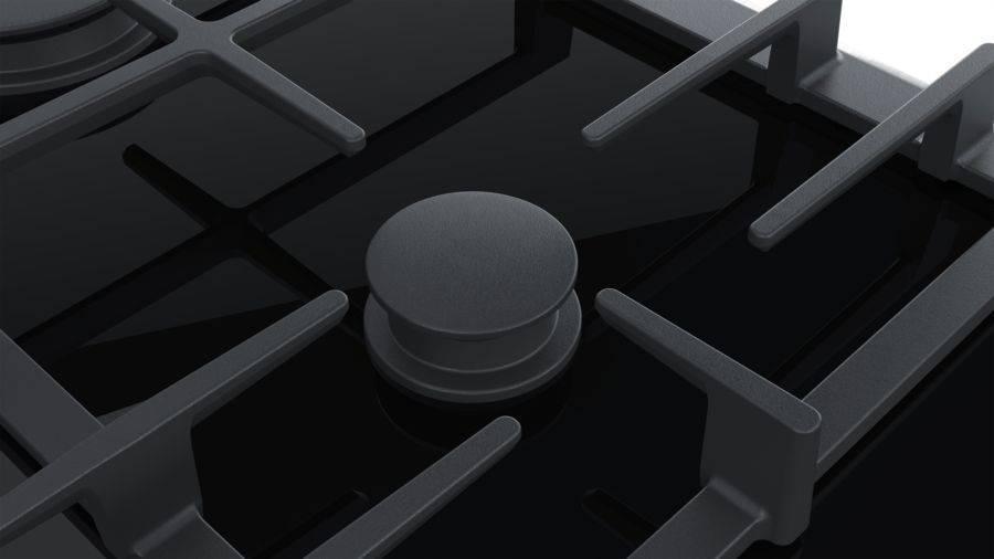 Газовая варочная поверхность Bosch PRR7A6D70R черный - фото 4