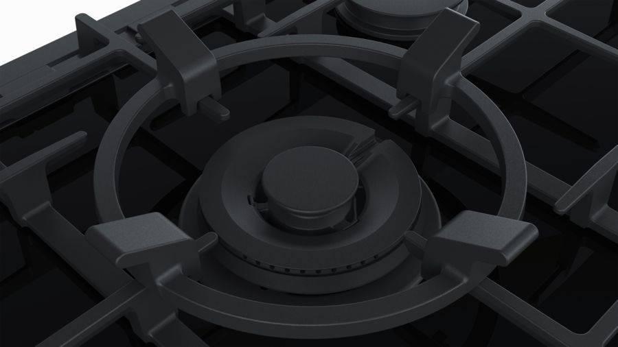 Газовая варочная поверхность Bosch PRR7A6D70R черный - фото 5