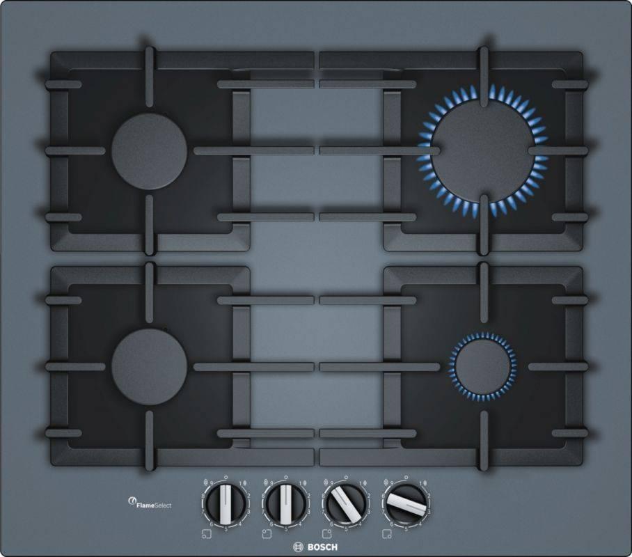 Газовая варочная поверхность Bosch PPP6A9B90R черный - фото 1