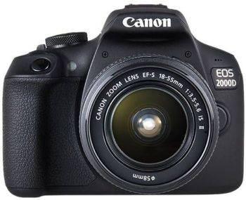 Фотоаппарат Canon EOS 2000D KIT черный, 1 объектив 18-55mm f/3.5-5.6 IS II (2728C003)