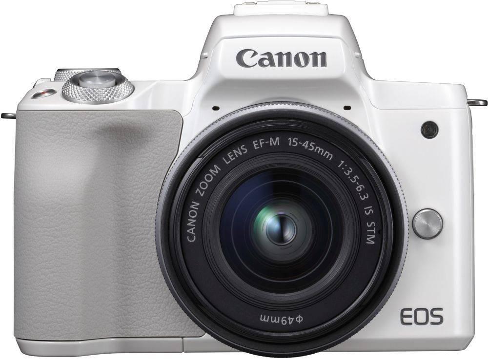 Фотоаппарат Canon EOS M50 kit белый (2681C012) - фото 1