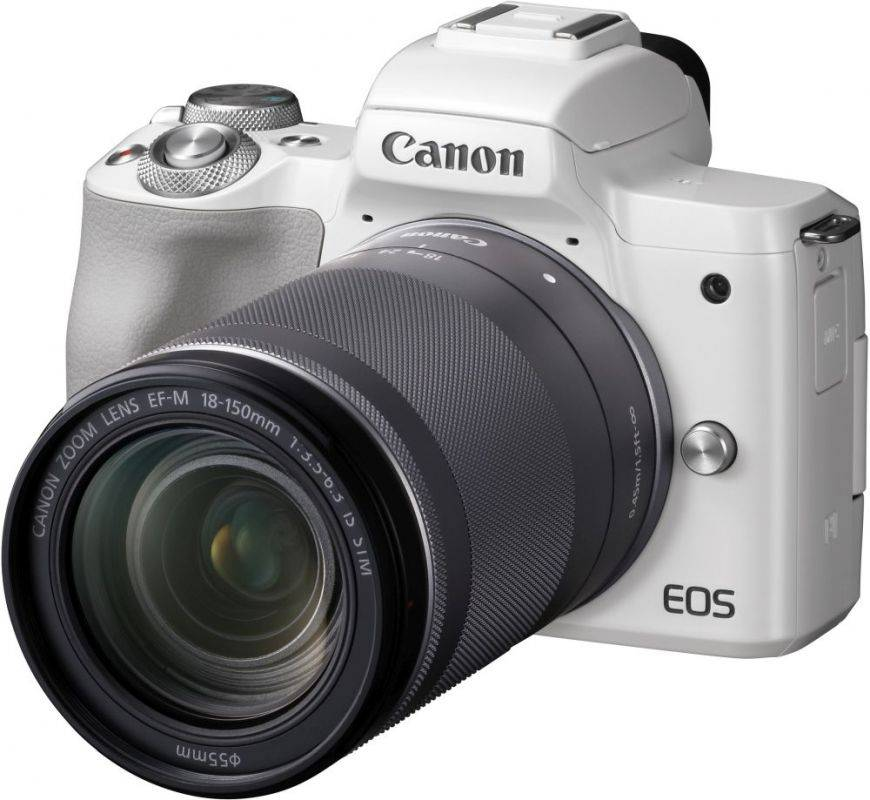 Фотоаппарат Canon EOS M50 kit белый (2681C042) - фото 1