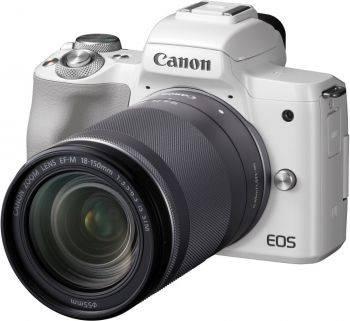 Фотоаппарат Canon EOS M50 kit белый (2681C042)
