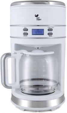 Кофеварка капельная Kitfort КТ-704-1 белый