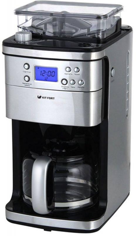 Кофеварка капельная Kitfort КТ-705 серебристый - фото 2