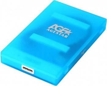 Внешний корпус для HDD/SSD AgeStar 3UBCP1-6G SATA синий