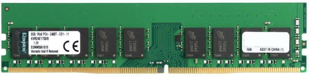 Модуль памяти DIMM DDR4 1x8Gb Kingston KVR24E17S8/8 - фото 1