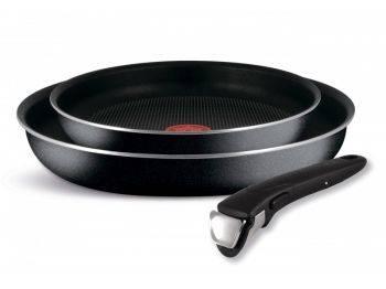 Набор сковородок Tefal Ingenio Black 04181820, 3 предмета (9100027686)