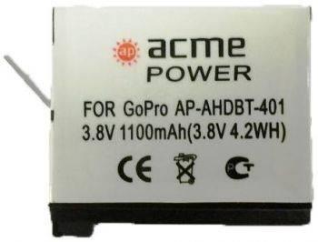 Аккумулятор для экшн-камер AcmePower AP-AHDBT-401