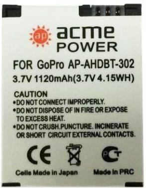 Аккумулятор для экшн-камер AcmePower AP-AHDBT-302