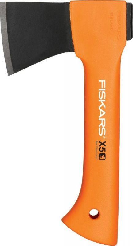 Топор Fiskars Х5 черный/оранжевый (1025441) - фото 1