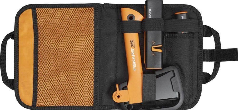 Топор Fiskars Х5 черный/оранжевый (1025441) - фото 2