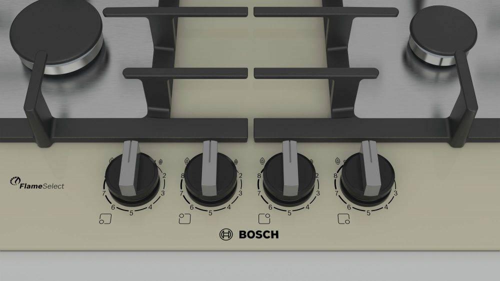 Газовая варочная поверхность Bosch PPP6A8B91R бежевый - фото 4