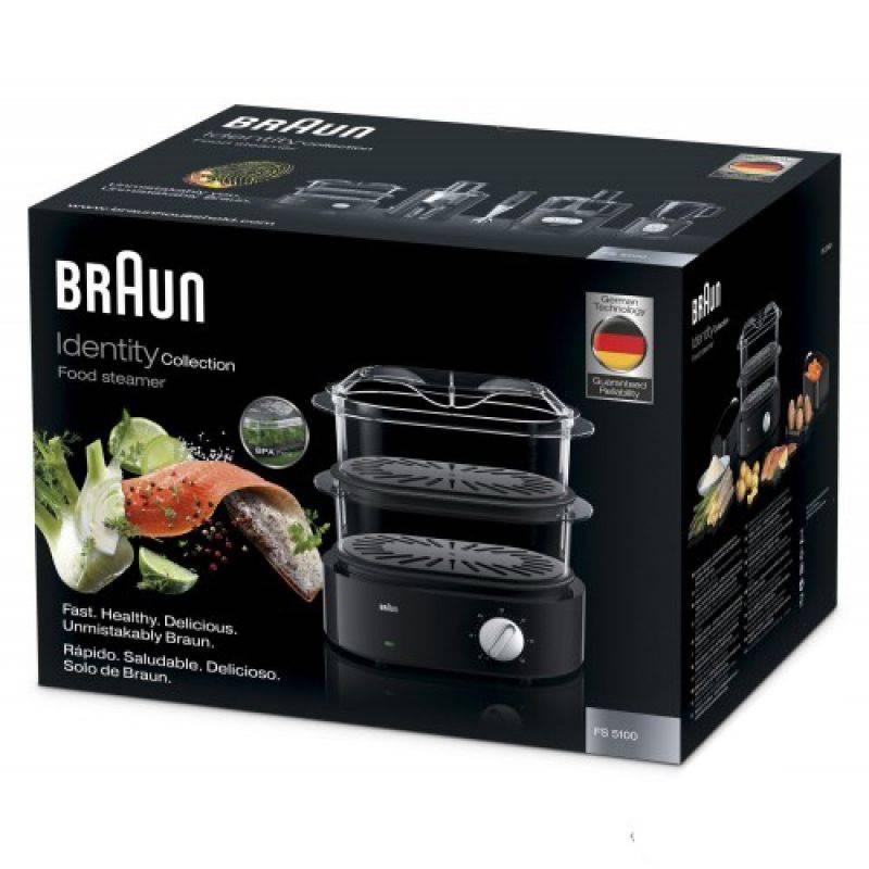 Пароварка Braun FS5100 черный (0X23611002) - фото 2