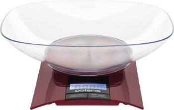 Кухонные весы Polaris PKS 0349DL бордовый