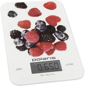 Кухонные весы Polaris PKS 0740DG белый/рисунок