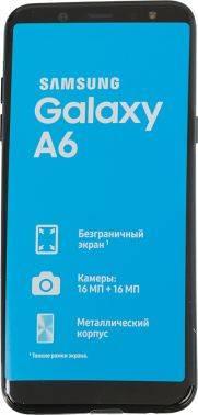 Смартфон Samsung Galaxy A6 (2018) SM-A600F 32ГБ черный (SM-A600FZKNSER)