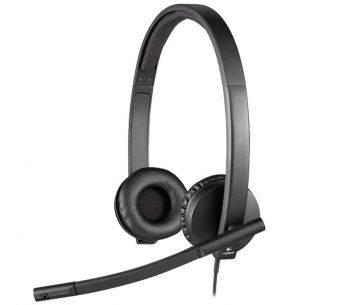 Наушники с микрофоном Logitech H570e Stereo черный (981-000575)