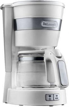 Кофеварка капельная Delonghi ICM14011.W белый (132301115)