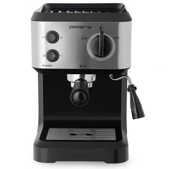 Кофеварка эспрессо Polaris PCM 1517AE серебристый/черный