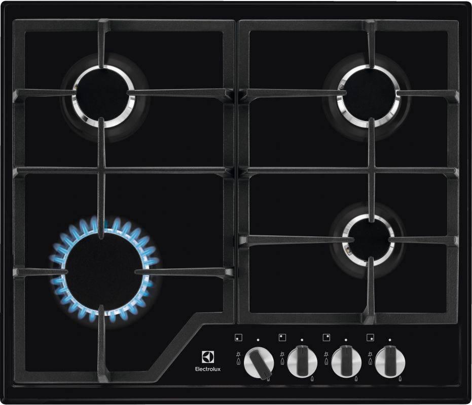 Газовая варочная поверхность Electrolux GPE263MB черный - фото 1