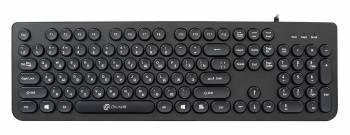 Клавиатура Оклик 400MR черный USB slim Multimedia (плохая упаковка)