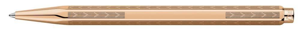 Ручка шариковая Carandache Ecridor Chevron Dore Rose CL40 (898.407) - фото 1