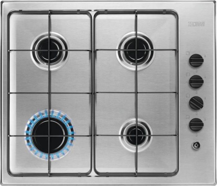 Газовая варочная поверхность Zanussi GPZ262HB нержавеющая сталь - фото 1