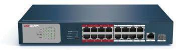 Коммутатор неуправляемый Hikvision DS-3E0318P-E/M(B)