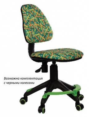 Кресло детское Бюрократ KD-4-F зеленый (KD-4-F/PENCIL-GN)
