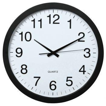 Настенные часы Hama PG-400 Jumbo черный/белый (00136292)