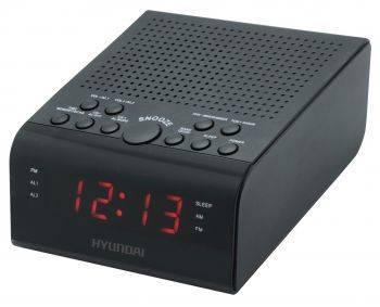 Радиобудильник Hyundai H-RCL180 черный