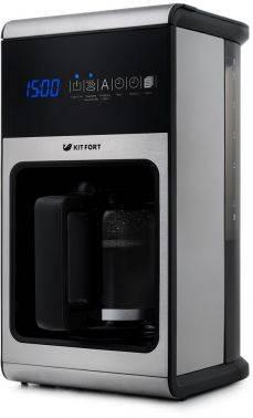 Кофеварка капельная Kitfort КТ-714 серебристый/черный