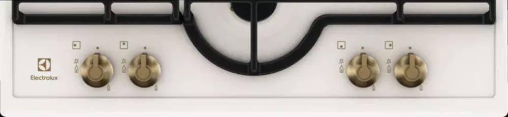 Газовая варочная поверхность Electrolux GPE362RBW кремовый - фото 2