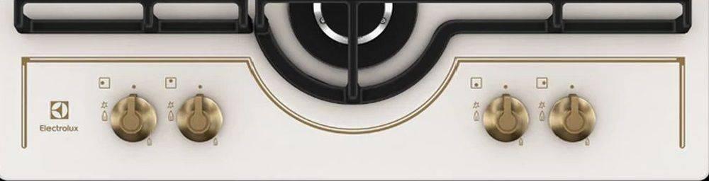 Газовая варочная поверхность Electrolux GPE363RBV кремовый - фото 4