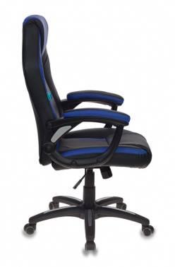 Кресло игровое Бюрократ CH-829 черный/синий (CH-829/BL+BLUE)