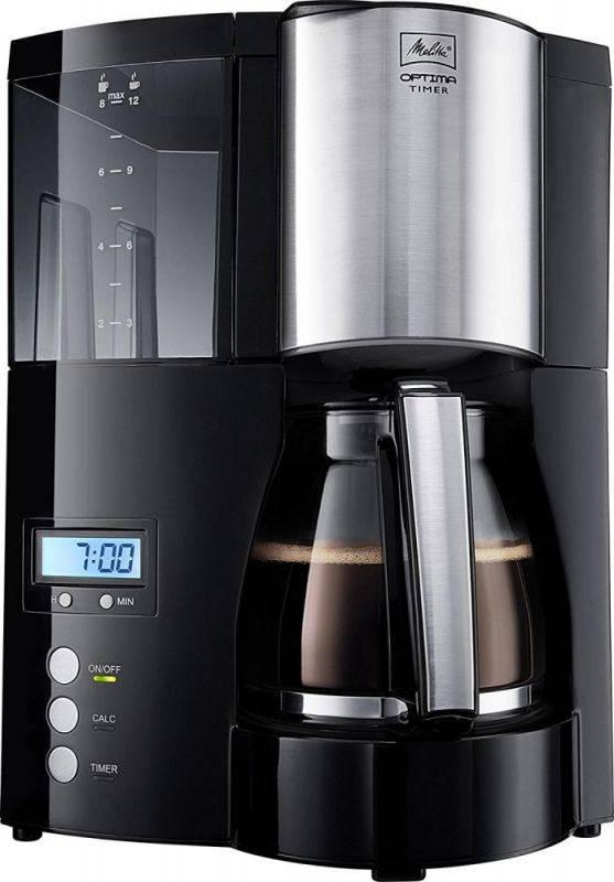 Кофеварка капельная Melitta Optima Timer черный (6613648) - фото 1