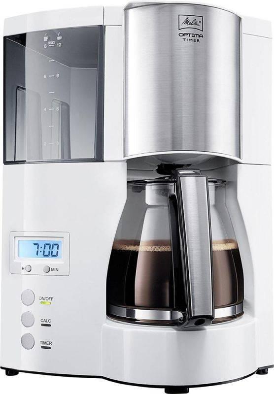 Кофеварка капельная Melitta Optima Timer белый (6613655) - фото 1
