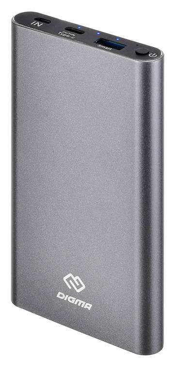 Мобильный аккумулятор DIGMA DG-ME-10000 темно-серый - фото 1
