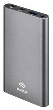 Мобильный аккумулятор DIGMA DG-ME-10000 темно-серый