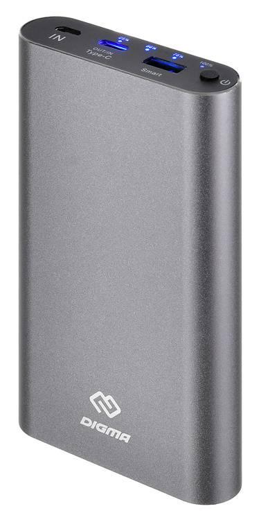 Мобильный аккумулятор DIGMA DG-ME-15000 темно-серый - фото 1