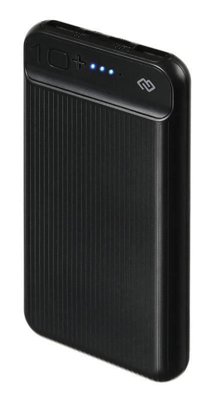Мобильный аккумулятор DIGMA DG-10000-3U-BK черный - фото 1