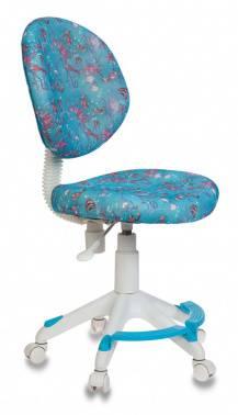 Кресло детское Бюрократ KD-W6-F голубой (KD-W6-F/AQUA)