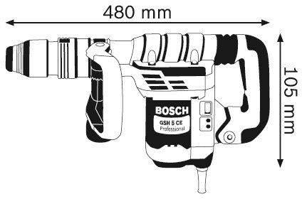Отбойный молоток Bosch GSH 5 CE Professional (0611321000) - фото 2