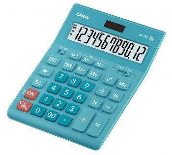 Калькулятор настольный Casio GR-12C-LB голубой (GR-12C-LB-W-EP)
