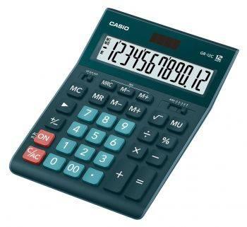 Калькулятор настольный Casio GR-12C-DG темно-зеленый (GR-12C-DG-W-EP)