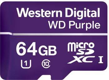 Карта памяти microSDXC 64Gb Class10 WD Purple (WDD064G1P0A)