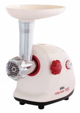 Мясорубка Sinbo SHB 3161 белый/красный