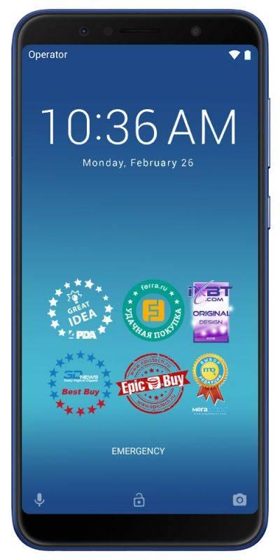 Смартфон Asus ZenFone Max Pro M1 ZB602KL 32ГБ синий (90AX00T3-M01300) - фото 1